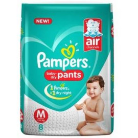 PAMPERS BABY DRY PANTS M 8 PANTS