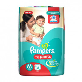 PAMPERS PANTS MD REGULAR PACK 8PCS.